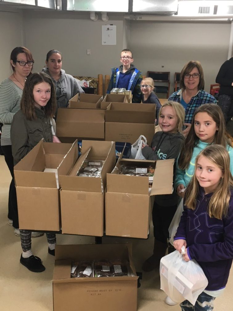 Packing with Junior Girl Scouts Troop 1328