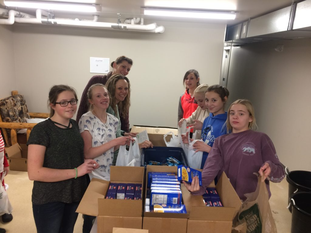 Girl Scout Cadettes Troop 1354 Packing like Pros