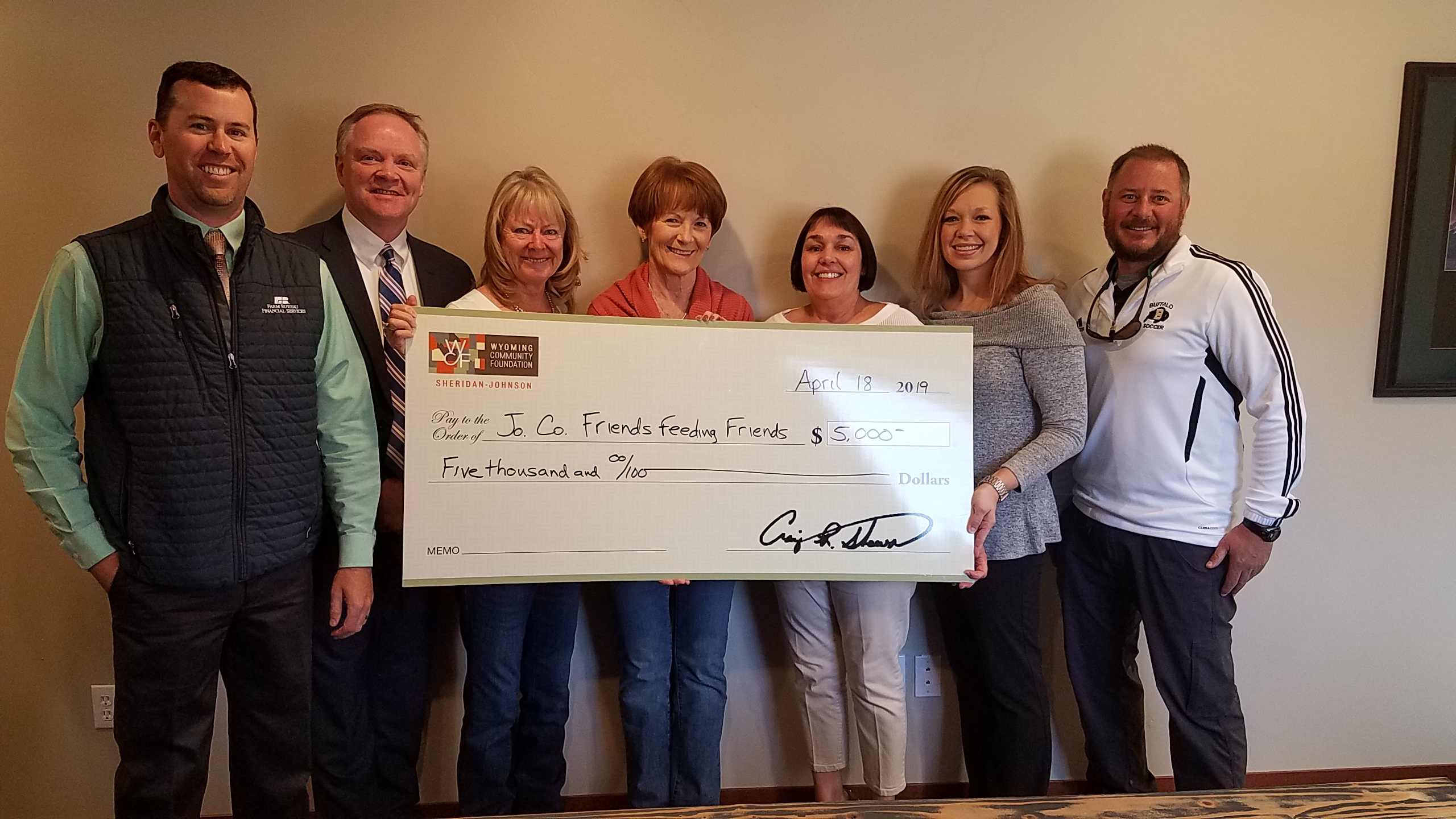 JC-FFF awarded Wyoming Community Foundation Grant – Thank You!