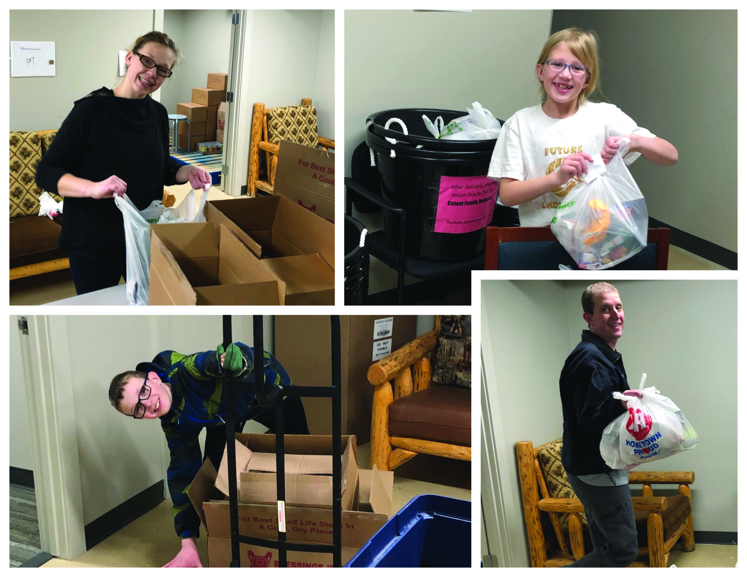 Cotant family packs weekend meals for students